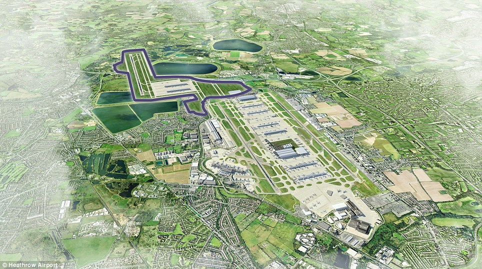 South west: Costing £18billion it is the most expensive and would not be open until 2029, requiring 850 homes to be bulldozed