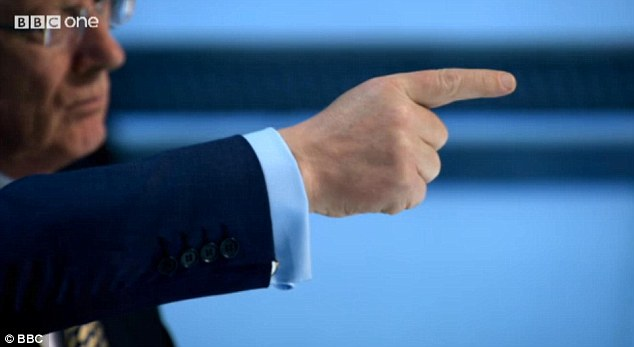 You're Hired. Lord Sugar's finger points in the direction of Leah rather than Luisa
