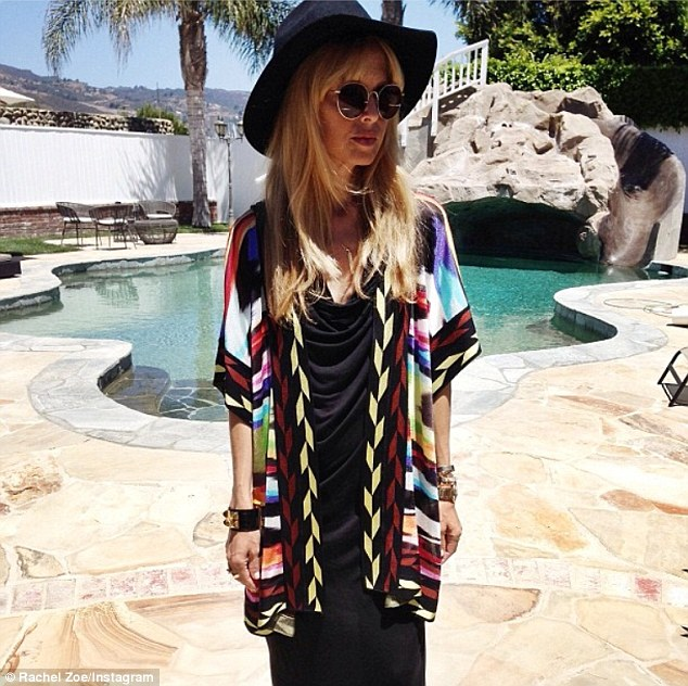 Missoni magic: Rachel Zoe tweeted a snapshot of her wearing a designer cardigan on her Instagram page