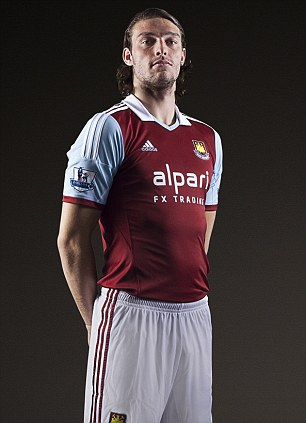 Hammer time: Andy Carroll became West Ham's record signing after a £15.5m deal from Liverpool