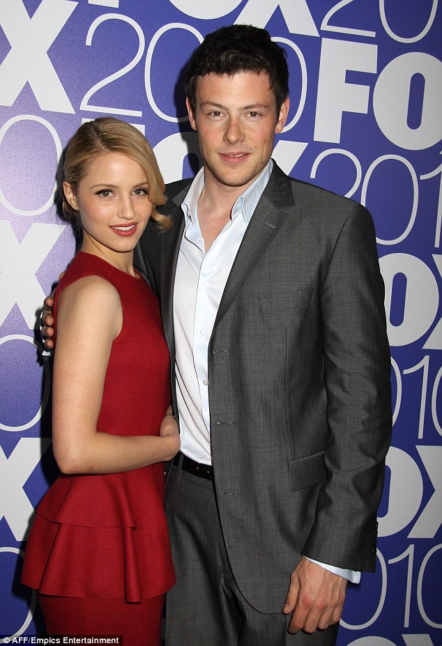 Good friends: Dianna his pictured with the late Cory Monteith back in 2010 at the Fox Upfront after-party in New York City