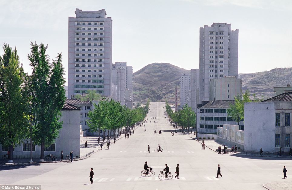 Tongil Street in Kaesong, a major tourist attraction for visitors to the secretive state and one on only two places in North Korea that can be reached directly from the South