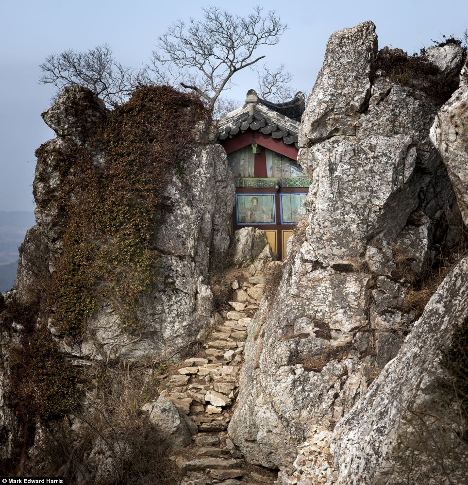 Tucked away on the west face of Mount Dalmasan is the Buddhist Dosoram Hermitage, part of the Mihwangsa Buddhist temple. The temple was established in 749 during the Silla Dynasty