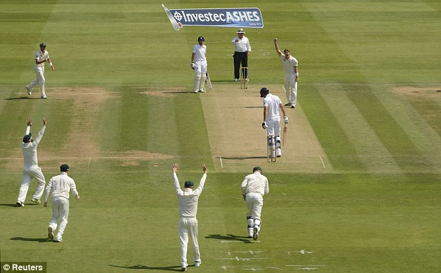 poor start: Alastair Cook was bowled lbw by Shane Watson