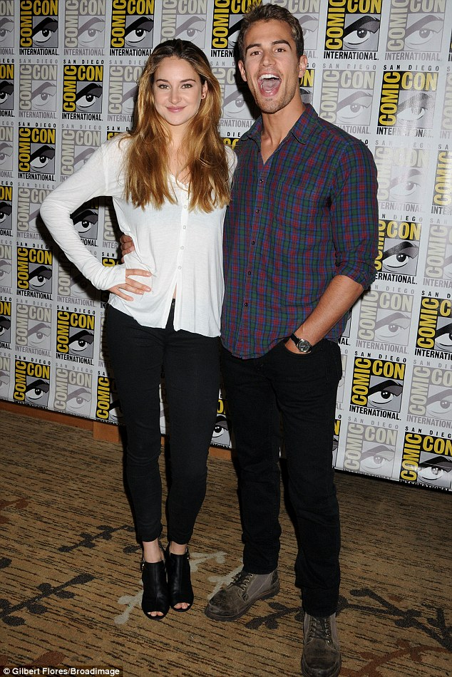Castmates: The 21-year-old actress was joined by her Divergent co-star Theo James