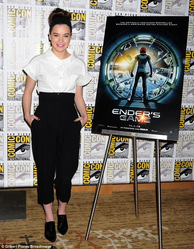 Promotional bid: The 17-year-old actress was at the convention to pump her upcoming movie Ender's Game