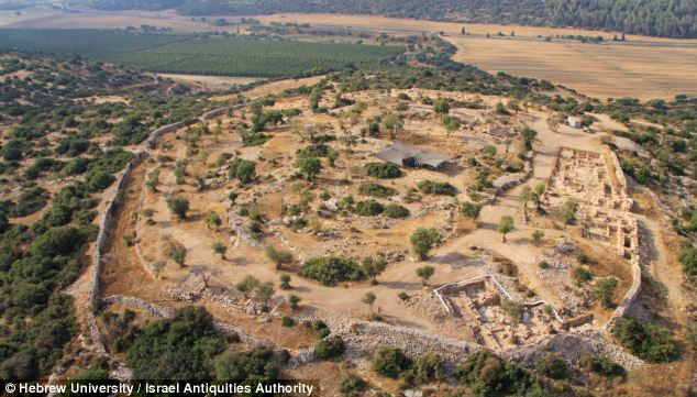 The site of what is thought to be the fortified Judean city of Shaarayim, where David is said to have battled Goliath in the biblical tale