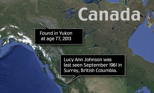 Found: Lucy Johnson was found living more than 1,000 miles away from where she was last seen in British Columbia