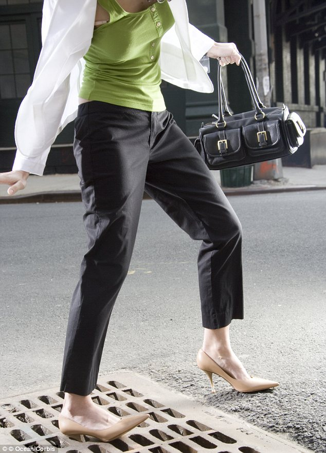 Step by step: A new class is teaching New York women proper posture in high heels and showing them how to navigate sidewalks and subways