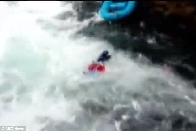 Cole pulled the unconscious adventure seeker through the river to safety