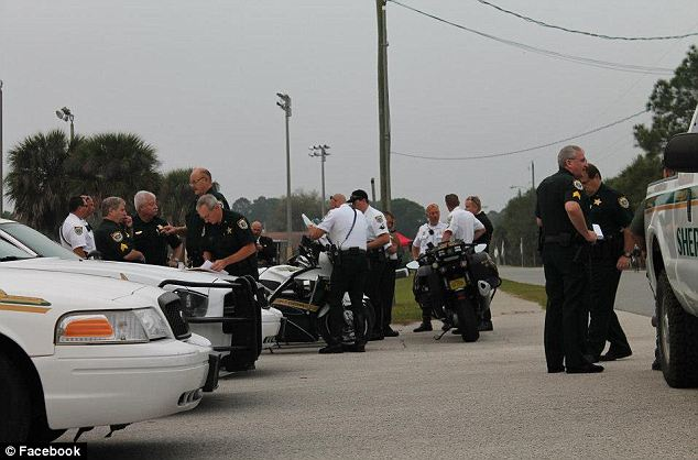 Wrong: Wood's superiors at the Brevard County Sheriff's Office (pictured) saw the gesture as 'offensive' and 'insensitive'