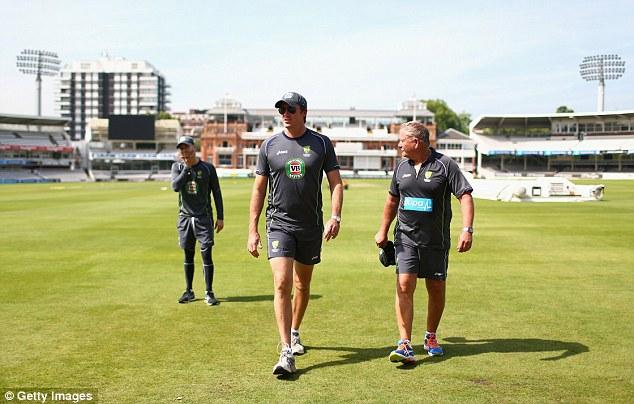 Outspoken: Australia legend Glenn McGrath (centre) was once the nemesis of England's batsmen