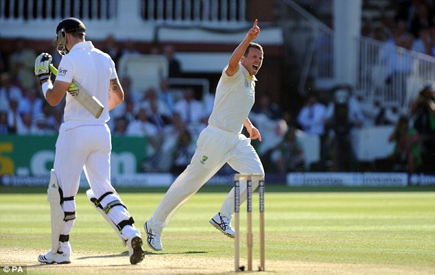 Still in it? Peter Siddle (right) kept Australia clinging on to faint hopes of victory with three late wickets