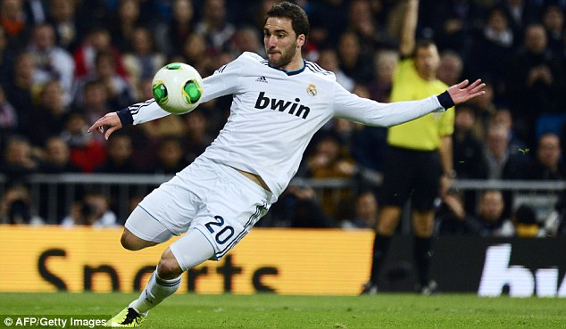 Target man: Arsenal want to sing Gonzalo Higuain