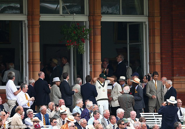 The Long Room: Australia make their way out to the middle through the pavilion