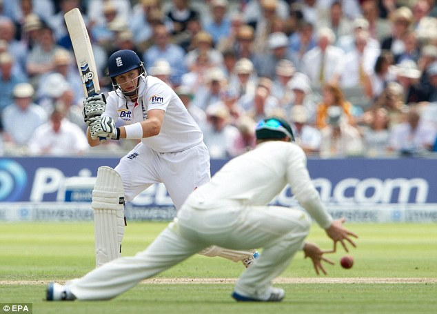 Watchful: Root was a study of concentration in the afternoon session