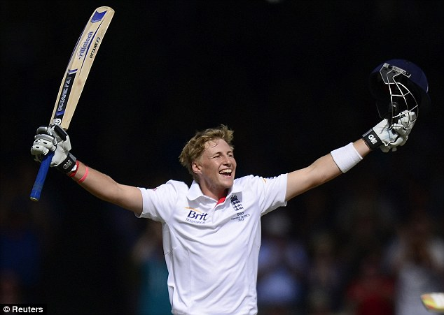 Root to glory: The England opener celebrates his hundred