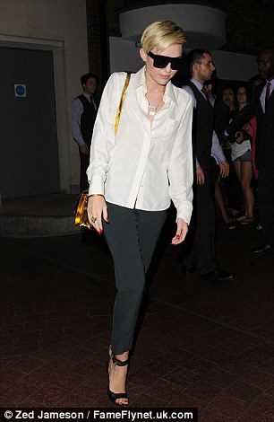Classic look: Miley wanted to look her best for her night out in London