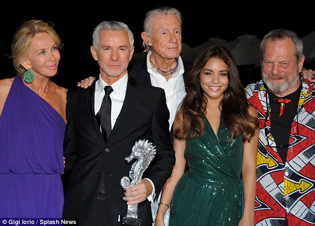 In good company: as Vanessa received her award, Baz Luhrman was awarded the Luchino Visconti Legend Award on the same evening