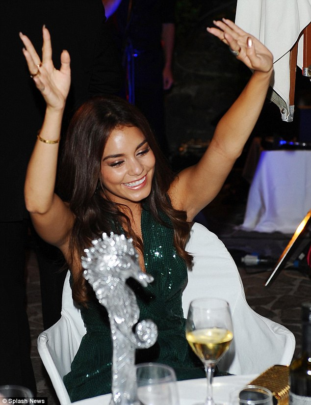 Celebration time! The young actress looked to be enjoying her time as she enjoyed dinner and drinks alongside Eli Roth