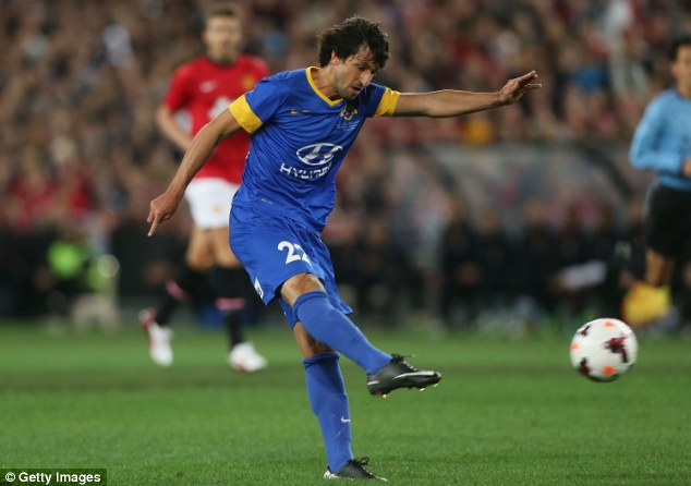 Strike: Thomas Broich shoots at goal for the All Stars