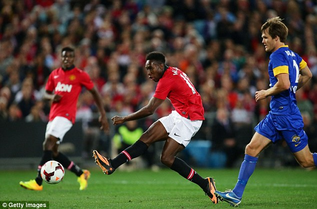 Boost: Danny Welbeck's two goals will help his confidence going into the new season