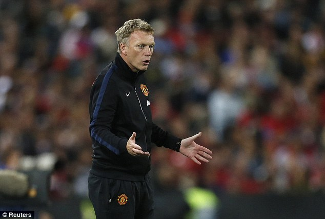 Maiden: New boss David Moyes celebrated his first win in charge of the club