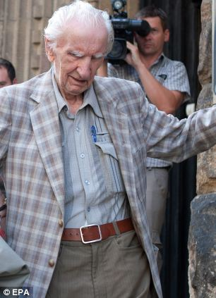 Alleged Hungarian war criminal Laszlo Csatary, 98, denies that he was involved in the murder of 15,700 Jews by helping to deport them to Auschwitz