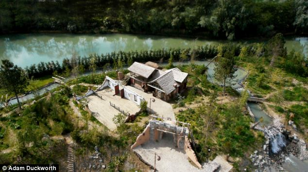 Buried treasure: The island is hidden away on a private estate where it will be used by the owner and his guests
