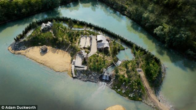 Paradise: Challis Island was built on a private estate in Cambridgeshire and includes a private beach, stream and lagoon