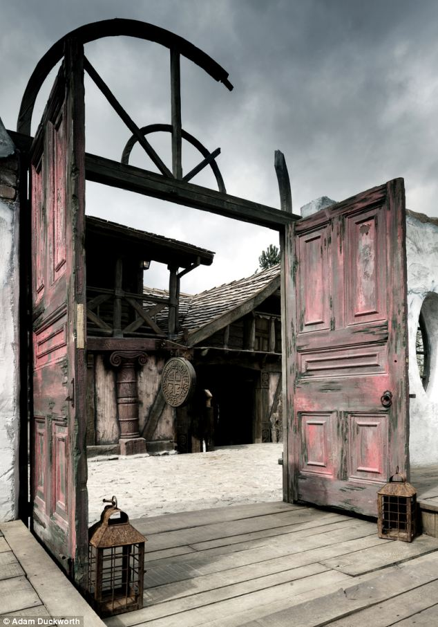 Ramshackle: Although the buildings look like they are about to fall down, they were handbuilt to a custom design