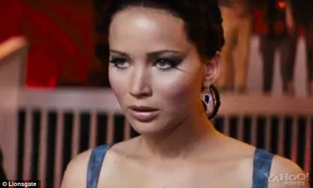 Forced back in: Katniss is made to compete in an all-stars version of the Hunger Games