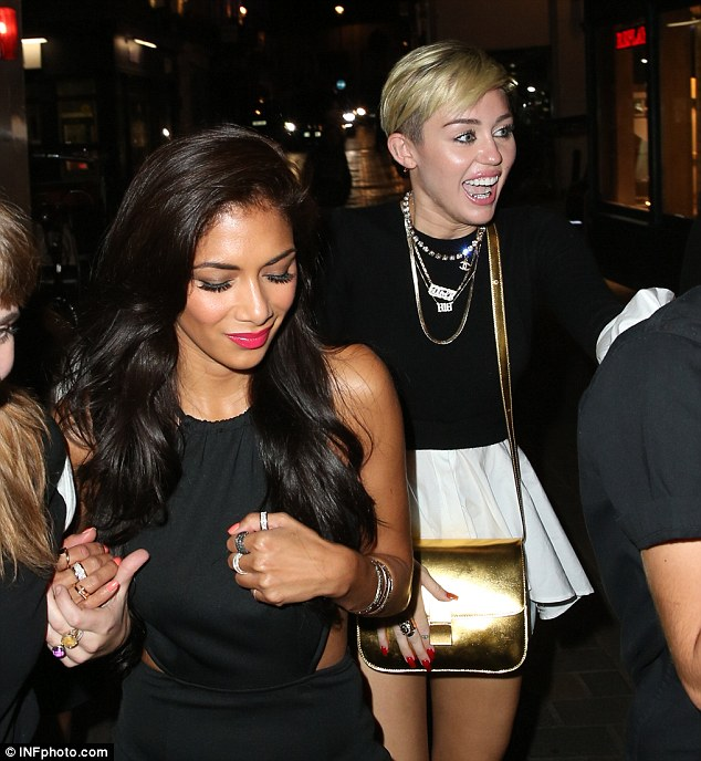 The after party: Miley left The Box in the wee hours of the morning for Cirque Le Soir with Nicole Scherzinger