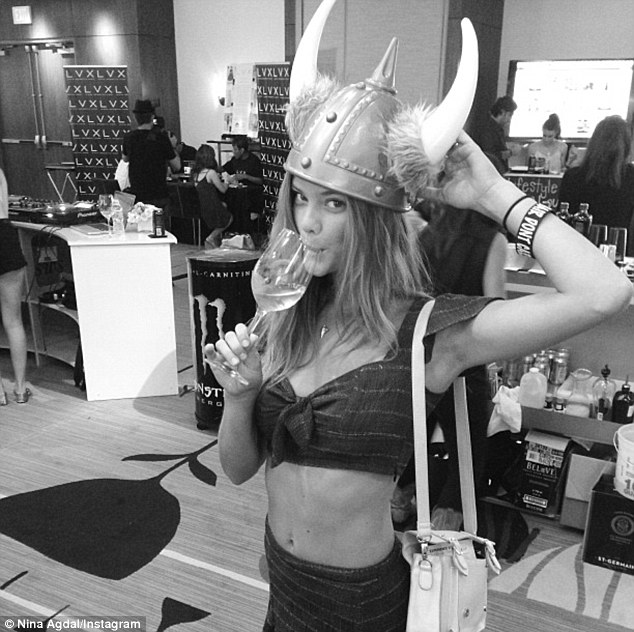 'Awesome': The 21-year-old laughed at her costume, sharing a snap on her Instagram