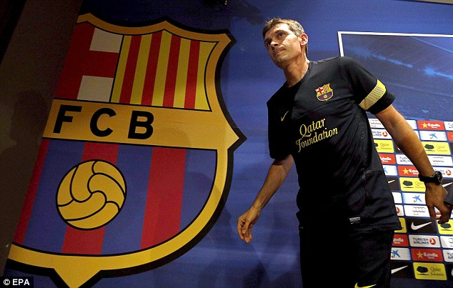 Sad day: Tito Vilanova has stepped down after suffering a further recurrence of throat cancer
