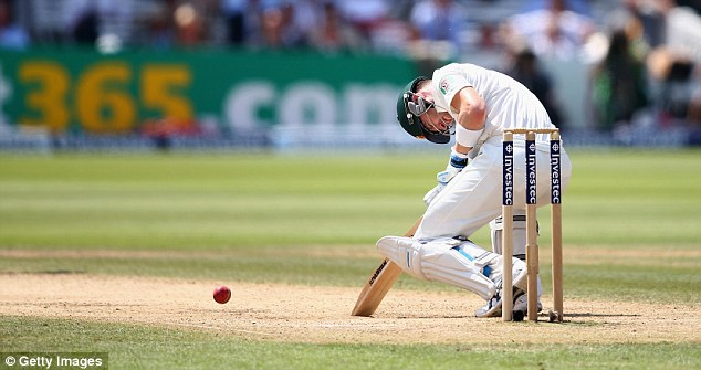 Clarke's evasive action didn't stop him being hit by Broad