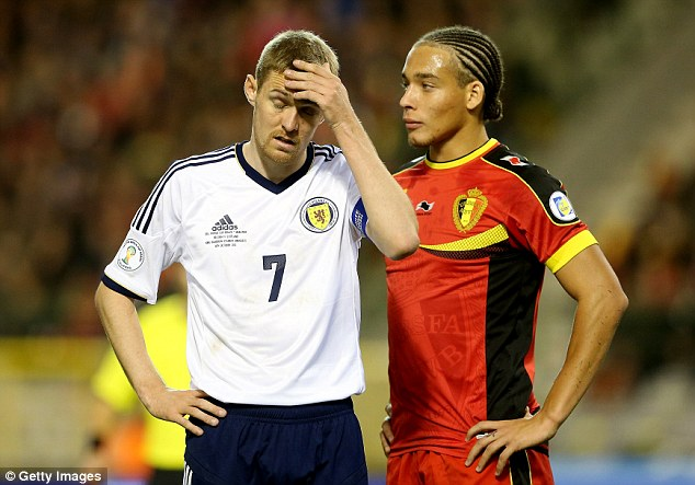 International duty: Fletcher will also be hoping to make a quick return to the Scotland team