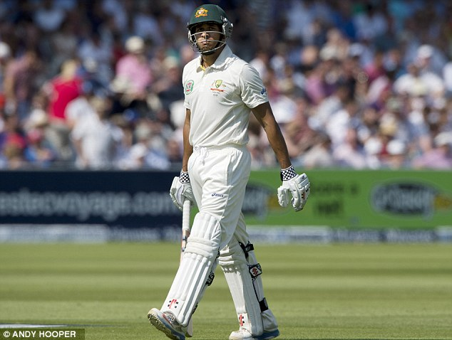 Not three and easy: Usman Khawaja did reasonably well at No 3 but Australia are struggling to replace Ricky Ponting (below)