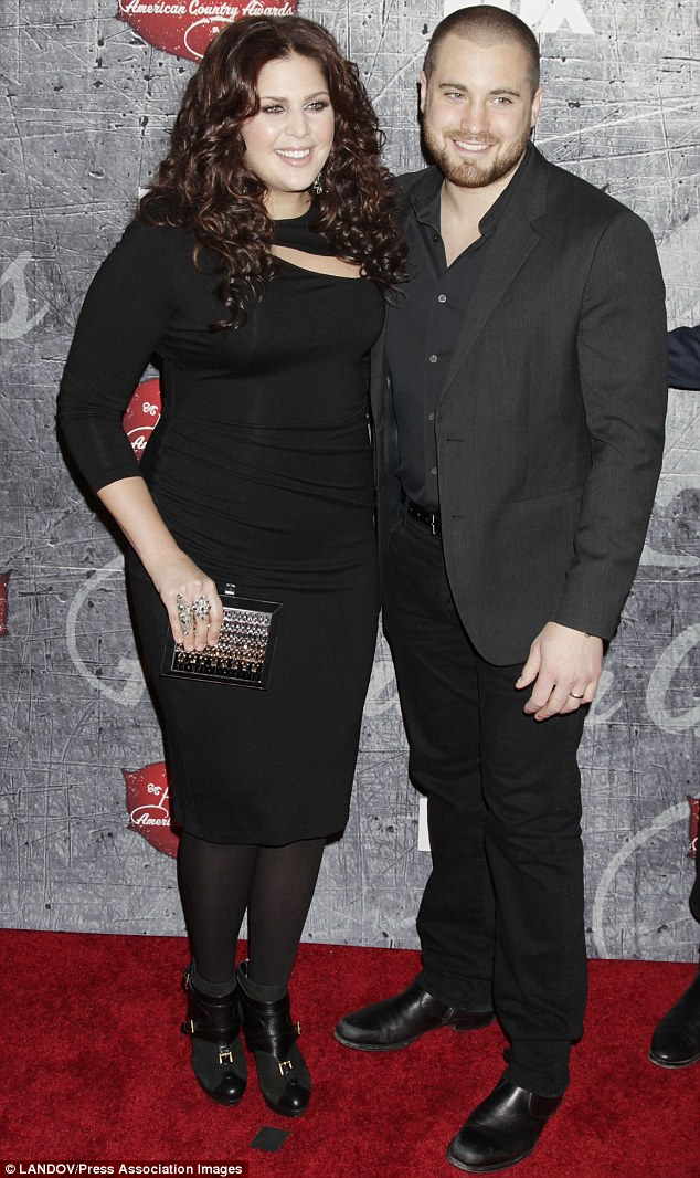 New parents: Hillary and husband Chris Tyrrell, shown in December 2012 in Las Vegas, were married in January 2012
