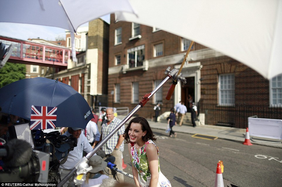 Sunny: A television reporter speak to the camera. The royal birth has provoked a frenzy, with national and international media keeping up a deluge of speculative reports