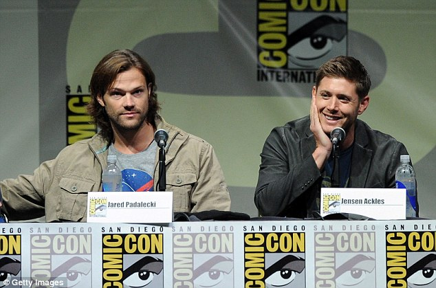 The brothers: Jared sat with his CW co-star Jensen Ackles on the Supernatural panel
