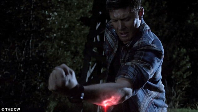 Exorcism: Dean Winchester attempts to shake loose an unholy force from his body