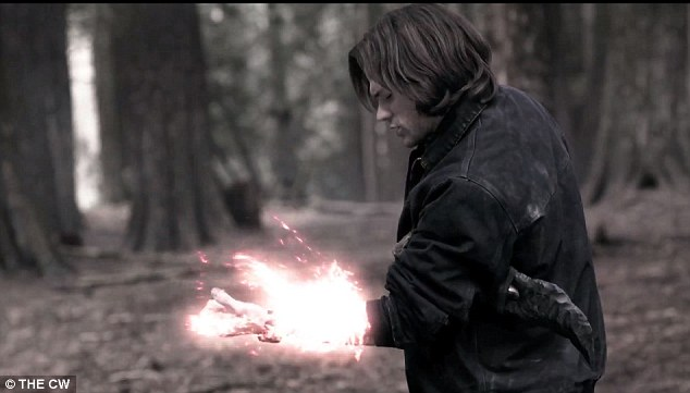 New season: In the teaser unveiled at Comic Con the Winchester brothers attempt to shut the gates of the hell