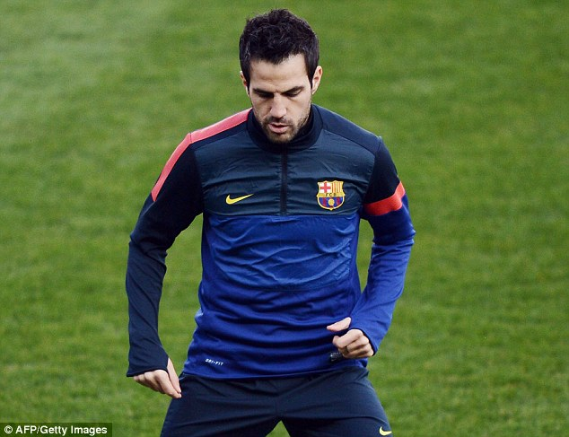 Top target: Moyes is refusing to give up on Cesc Fabregas at Barcelona despite the second bid being rejected