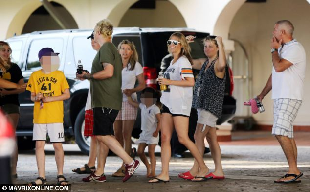 It is not known if Appleton, third right, and Gallagher's children Gene and Molly know about the allegations