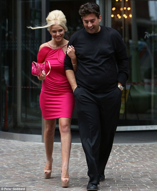 New BFF: Helen walked arm-in-arm with James Argent as they left their hotel on the way to filming