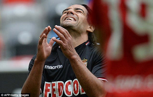 Frustrated: Falcao looks frustrated during the friendly game