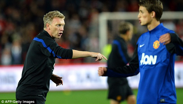 Making his point: David Moyes is settling in as manager of Manchester United