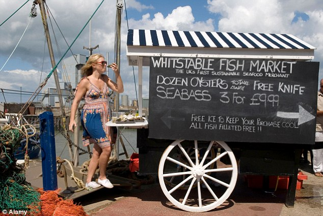 Catch of the day: The seven-day Whitstable Oyster Festival kicks off on 27 July and includes an oyster parade, food fair and oyster eating competition