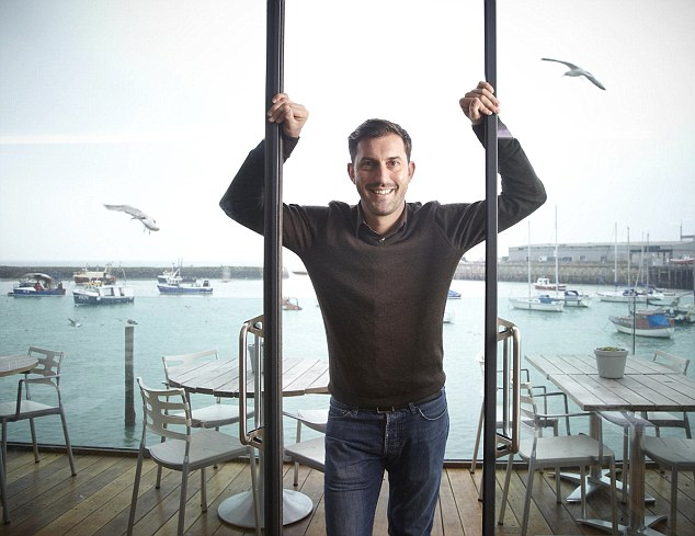 Folkestone fan: Mark Sargeant grew up in Kent and now runs two restaurants on the coast